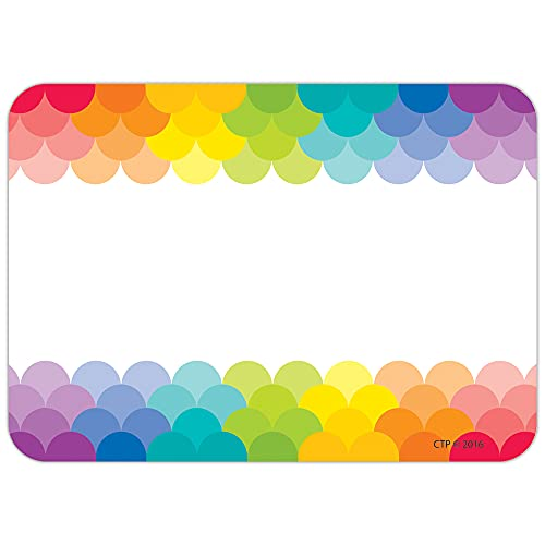 """CTP Painted Palette Rainbow Scallops Labels/Name Tags, Set of 36, 3.5"""" x 2.5"""" Each (Creative Teaching Press 4821)"""