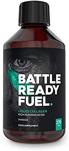 Battle Ready Fuel Liquid Collagen for Joint Support, Stronger Muscles, and Enhanced Recovery Nutritional Supplement (270ml) — Mango & Passionfruit Flavor