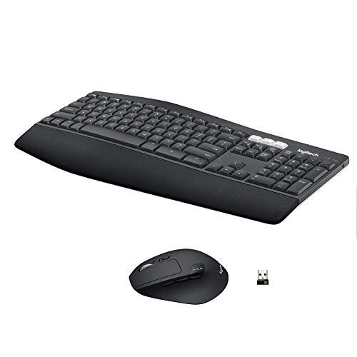 Logitech MK850 Performance Kabelloses Tastatur-Maus-Set, Bluetooth & 2.4 GHz Verbindung via USB-Empfänger, Multi-Device, 24 bis 36-Monate Akkuleistung, Handballenauflage, Deutsches QWERTZ-Layout