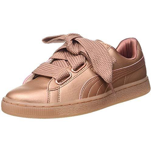 Puma Basket Heart Copper 365463-01, Zapatillas Mujer, Rosa (Pink 365463/01), 38 EU