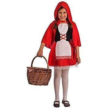 El Rey del Carnaval Disfraz de Caperucita Roja para niña: Amazon ...