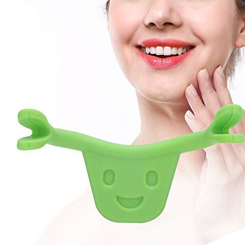 10pcs entraîneur personnel de beauté de sourire - entraîneur du visage formateur du visage de formateur de sourire(vert)
