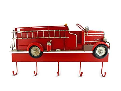 Deko Feuerwehr Garderobe | Tolles Geschenk für Feuerwehrmann Feuerwehrfrau Kinder | Kindergarderobe