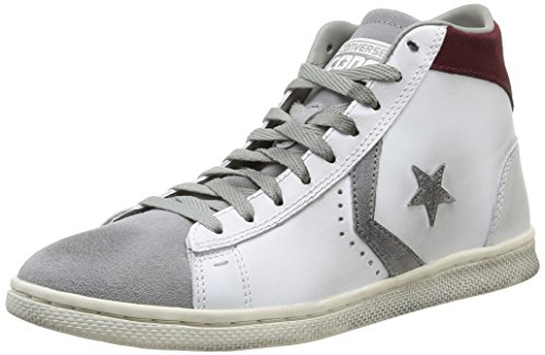 Converse, PRO Leather Lp Mid Lth/Sue Z T Sneaker,Unisex Adulto, Bianco (White/Drizzle Grey), 37.5