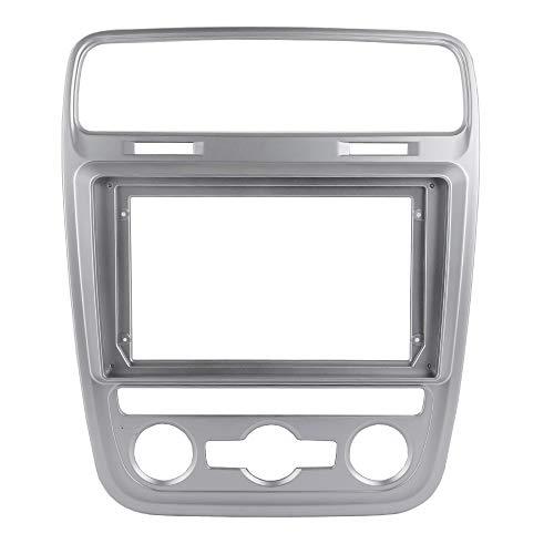 YLPXSXGY Marco de metal ABS de doble Din Slivery compatible con Volkswagen Scirocco Refit Car 9 pulgadas Android Radio Navegación DVD Montaje Dashboard (color : engranaje automático)