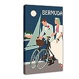 Bermudas Vintage Viaje Retro Bicicletas Bermudas Bicicletas