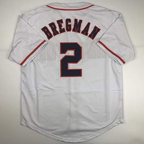 Unsigned Alex Bregman Houston White Custom Stitched Baseball Jersey Size Men's XL New No Brands/Logos