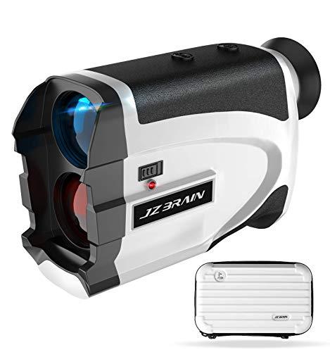 JZBRAIN Golf Rangefinder, 1100 Yards Laser Range Finder Golfing with Slope, NX7 Magnification Rangefinder for Target Shooting, Continuous Scan Measurement for Golfing & Hunting (White and Black)