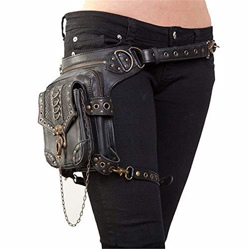 Jxth Bolsa de Viaje Fanny Pack Bolsas de Cintura Steampunk Bolsas de Motocicleta para Mujer Bolsas de Mensajero de Cuero gótico Vintage Mensajero Cintura para Hombres Mujeres (Cocina)