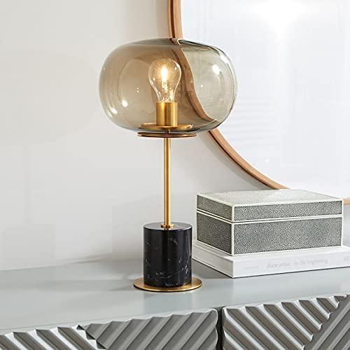 Moderno personalidad cuerpo mármol escritorio lámparas simplicidad creativa cristal lámparas de mesa estudio biblioteca de escritorio luz dormitorio noche lámpara decoración noche iluminación e27 edis
