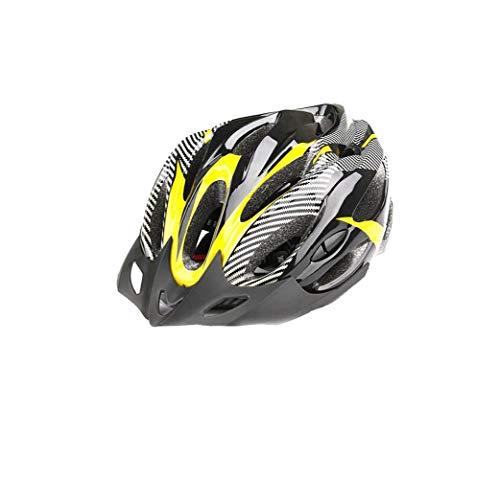 Hiinice Bicicleta De Montaña Casco Ligero Carcasa del Casco Cómodo Bicicleta BMX Casco De Seguridad Al Aire Libre para El Tamaño De Deportes Al Aire Libre Negro Amarillo Herramientas Convenientes