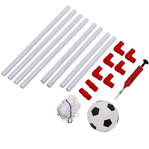 Alomejor Mini-Kinderfußballtor Mini-Insta-Hallenfußball-Set mit Ballpumpenfußballnetz für Jungen- und Mädchenfußballtraining(106cm)