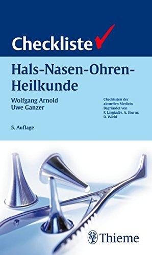Checkliste Hals-Nasen-Ohren-Heilkunde (Checklisten Medizin)