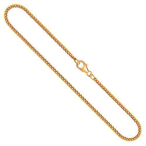 Goldkette, Panzerkette flach Gelbgold 750/18 K, Länge 42 cm, Breite 2.1 mm, Gewicht ca. 7,5 g, NEU