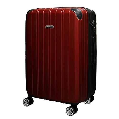 [DPN5035]キャリーケース スーツケース 軽量 Wキャスター TSAロック キャリーバッグ 旅行バッグ 旅行カバン (M, ワインレッド)