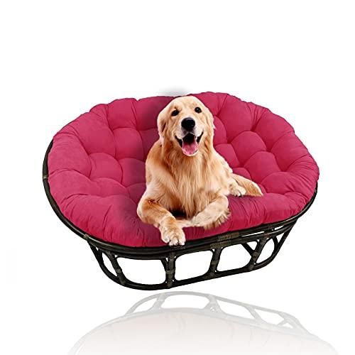 YHWL - Cuscino doppio Papasan, per sedia a uovo, con laccetti, per sedia a dondolo, cuscino per sedia a dondolo, per sedie a dondolo, per sedie da giardino (senza sedia), colore: rosa, 60 x 100 cm