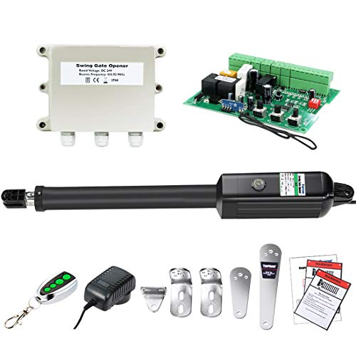 TOPENS A5 Automatic Gate Opener Kit Medium Duty Single Gate Operator for Single Swing Gates Up to 16 Feet or 550 Pounds Gate Motor