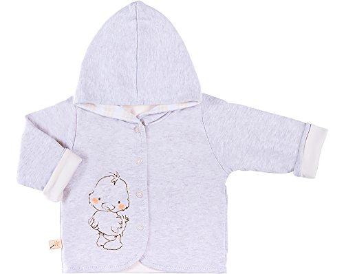Be Mammy Be Mammy Kinder Baby Sweatshirt mit Kapuze BEEK0006 (Melange/Creme, 74)