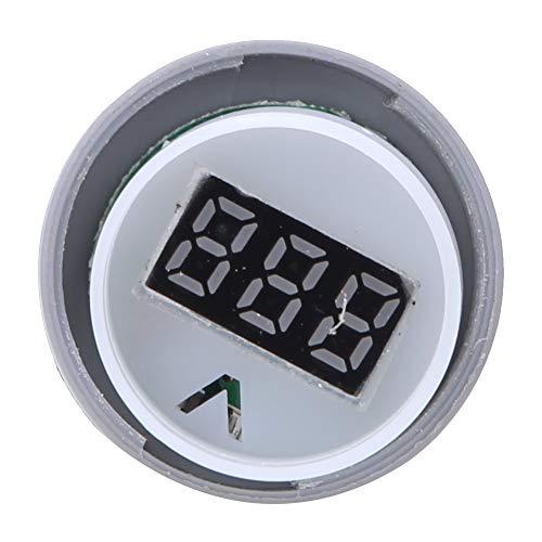 Pantalla digital LED pura de voltímetro indicador redondo 50 x 28 mm/2. X. 1.1 en AD16.-22ds. Pantalla digital voltímetro indicador de luz, luz de señal, 60 V - 500 V.