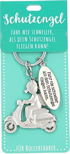 Depesche 11343-012 Schutz-Engel Schlüssel-Anhänger für Männer und Frauen aus Metall, Glücksbringer für Roller-Fahrer, ideal als kleines Geschenk für die Liebsten unterwegs