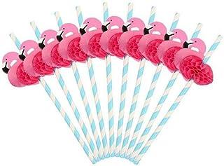 Straws,flamingos,Creative straw, gl beard straw, party straw.10 pcs.SDDC008