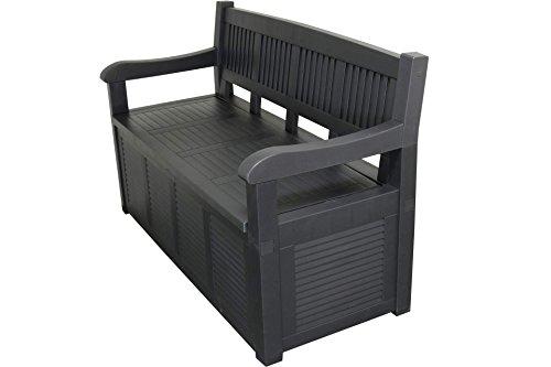 Gartenbank 2-Sitzer Aufbewahrung Kissenbox Gartenmöbel 130x60x85 cm - 3
