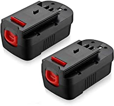 Powerextra 2 Pack 3.7Ah 18Volt HPB18 Replacement Battery Compatible with Black and Decker HPB18 HPB18-OPE 244760-00 A1718 FS18FL FSB18 Firestorm Black & Decker 18 Volt Battery
