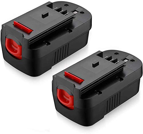 Powerextra Upgraded 2 Pack 3700mAh 18Volt HPB18 Replacement Battery Compatible with Black and Decker HPB18 HPB18-OPE 244760-00 A1718 FS18FL FSB18 Firestorm Black and Decker 18 Volt Battery