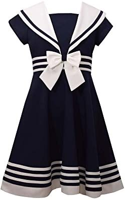 Bonnie Jean Girls Big Fit and Flare Nautical Dress Navy 12 product image