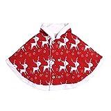 sunnymi - Abrigo infantil con capucha, diseño de ciervo rojo 6- 12 Meses