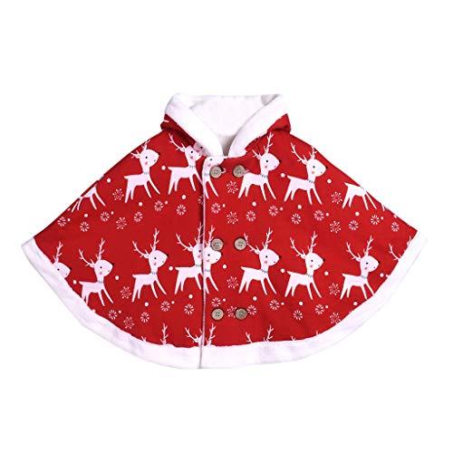 LianMengMVP Cute Enfants Enfants b/éb/é Costume de no/ël Cerf Cape en Capuche Robe Plus Epaississement de Velours Manteau pour 1-3Ans Gar/çons Filles