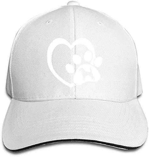 ZYZYY Berretto da baseball unisex Beagle Dog Love Heart Paw Snapback Cappello regolabile con visiera