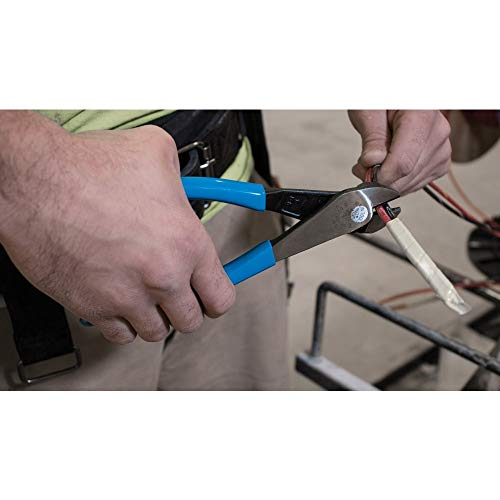 Klein Tools D2000-28 Pliers, Diagonal Cutting Pliers with Angled Head are Heavy-Duty to Cut ACSR, Screws, Nails, Most Hardened Wire, 8-Inch