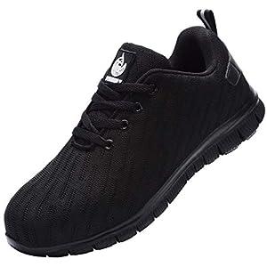41ZqwVc7qwL. SS300  - Zapatillas de Seguridad Hombre,Trabajo con Puntera de Acero Transpirable Reflectante Botas de Seguridad