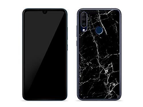 etuo Hülle für Wiko View 3 - Hülle Fantastic Hülle - Schwarze Marmor Handyhülle Schutzhülle Etui Hülle Cover Tasche für Handy