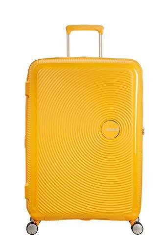 Valigia 77 cm Rigida 8 Ruote Soundbox American Tourister Long Soggiorno Giallo Golden Yellow Valise 77 cm rigide Soundbox American Tourister
