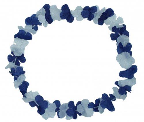 Schnooridoo 12 Blue / White Flower Garland Hawaiian 96 cm Decoration Party Fete Garland