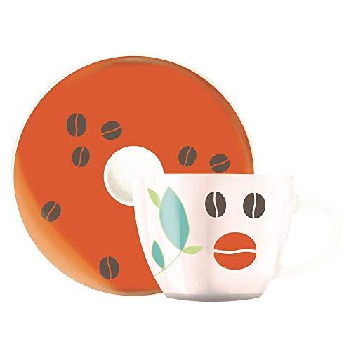 Ritzenhoff My Little Darling Espressotasse, Porzellan, Rot/Lila/Platin, 6.4 cm