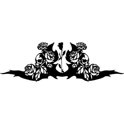 ThatVinylPlace Dimensioni: 60 cm x 20 cm, Colore a Scelta, 18 Colori Assortiti per Auto Bonnet Tatto, per Auto con Decorazione Tribale Tatto, Adesivo per Auto, Motivo: Teschio, Rosa