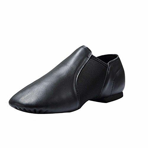 Dynadans Leather Upper Slip-on Jazz Dance Shoe for Women Men s Dance Shoes Black 8.5M