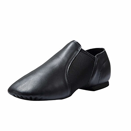 Dynadans Leather Upper Slip-on Jazz Shoe (Big Kid/Little Kid/Toddler) 12M Little Kid Black