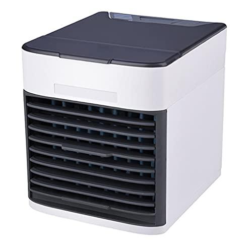 XHMJ Mini condizionatore d'Aria, Materiale ABS, Regolazione della velocità del Vento a Tre Livelli, Alimentazione USB a Basso Rumore, Adatta per dormitorio/Ufficio, ECC White