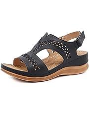 Huaji Plus Size Vrouwen Retro Stikken Hol Out Haak Loop Hand Gemaakt Wedges Sandalen Vintage Stijl Zomer Schoenen