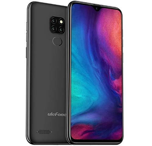 Ulefone Note 7P (2019) 4G Smartphone ohne Vertrag, 6,1-Zoll-Wassertropfen-Display, Android 9.0-DUAL SIM Handy, MTK6761 2,0 GHz 3 GB RAM 32 GB ROM, dreifache Rückfahrkamera, Fingerabdruck Schwarz
