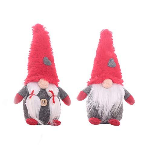 Supvox 2 Pezzi Coppia Gnomo Svedese Peluche Fatti A Mano Decorazione Gnomo Di Natale Bambola Di Peluche Gnomo Santa Per Ornamenti Per La Casa Albero Di Natale Decorazione Appesa