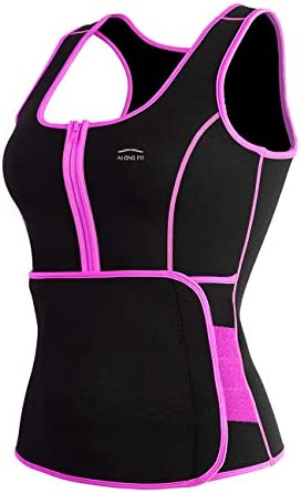 ALONG FIT Sweat Sauna Vest for Women Waist Trainer Corset Fitness Plus Size Neoprene Body Shaper product image
