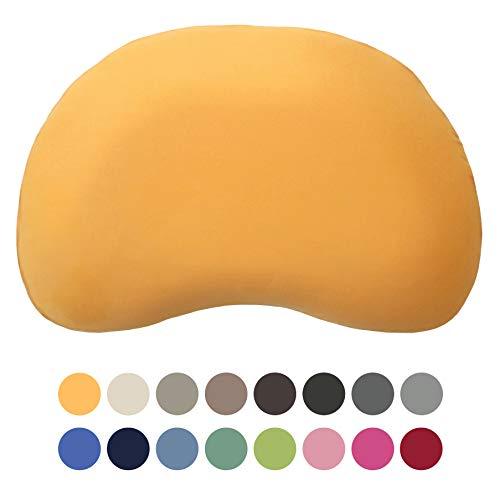 Edda Lux Bezug für Tempur Curve S/M Kissen | Jersey-Kissenbezug mit Reißverschluss | 61x40 cm | 100% Baumwolle | Farbe Honig