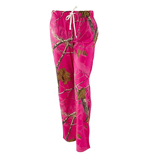 Realtree Ladies Lounge Pants AP Hot Pink (Large)