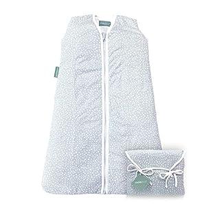 molis&co. Saco de Dormir para bebé. 2.5 TOG. Talla 6 a 18 Meses. Ideal para Entretiempo e Invierno. Suave y cálido. Grey…
