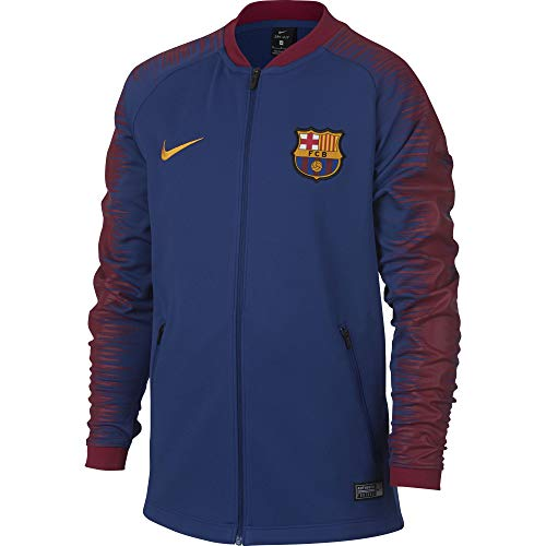 Nike Kinder FC Barcelona Anthem Jacke, Deep Royal Blue/University Gold, L